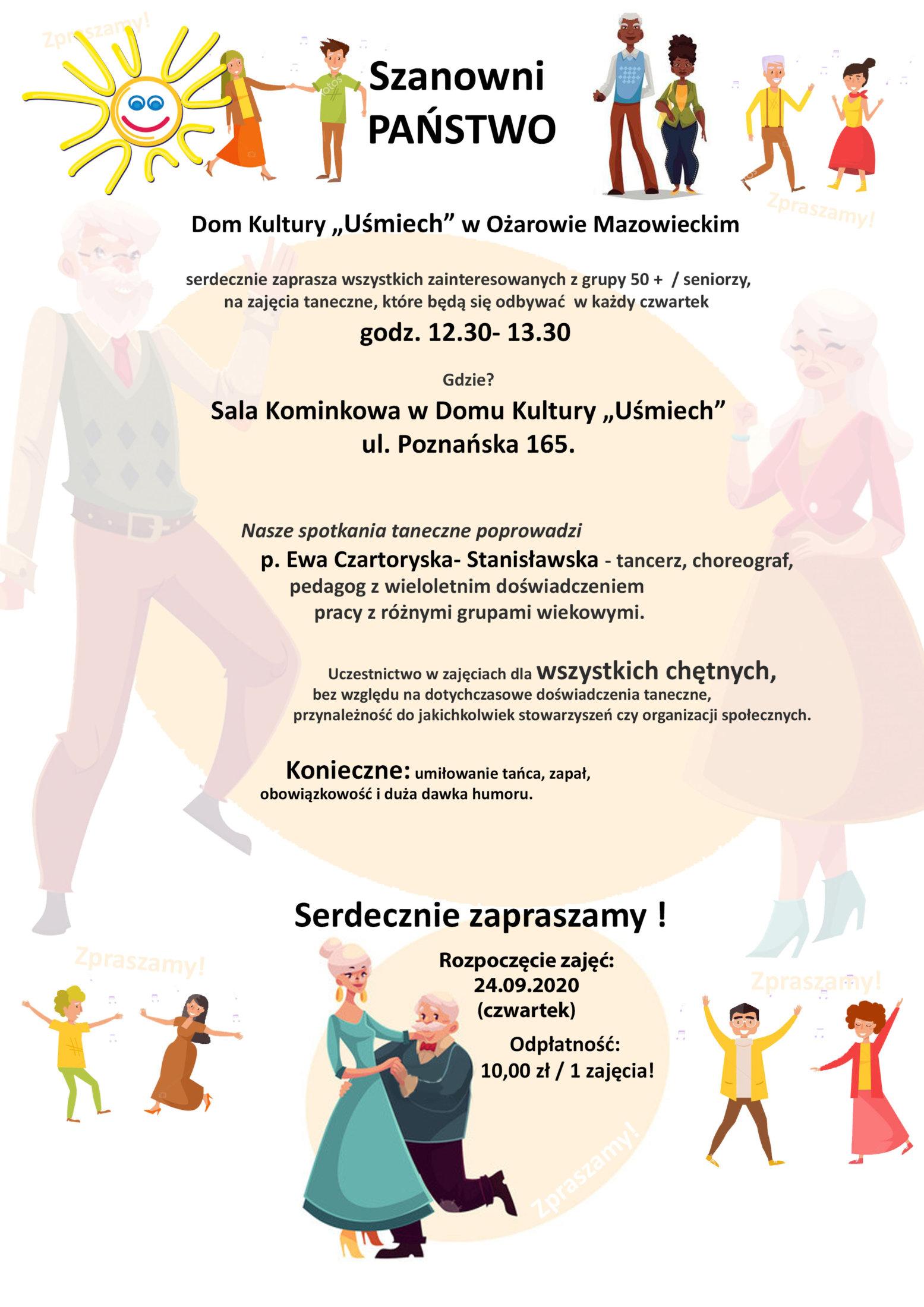 Taniec Seniorzy Plakat